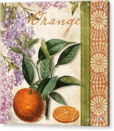 Summer Citrus Orange Acrylic Print