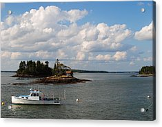 Summer Clouds Downeast Acrylic Print by Steven Scott