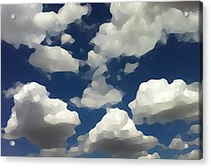 Summer Clouds In A Blue Sky Acrylic Print