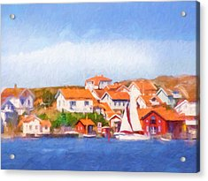 Summer Coast Acrylic Print by Lutz Baar