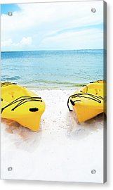 Acrylic Print featuring the photograph Summer Colors On The Beach by Shelby Young