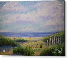Summer Day At The Beach Acrylic Print