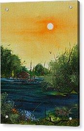 Summer Day At The Lake Acrylic Print