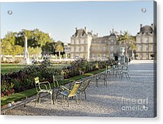 Summer Day Out At The Luxembourg Garden Acrylic Print