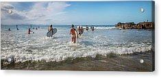 Summer Days Byron Waves Acrylic Print by Az Jackson