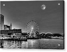 Summer Eve On The Seattle Waterfront Acrylic Print