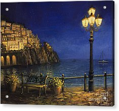 Summer Evening In Amalfi Acrylic Print by Kiril Stanchev