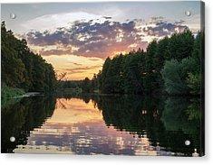 Summer Evening On Snov River. Sedniv, 2015. Acrylic Print
