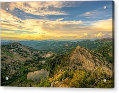 Summer Evening View From Sunset Peak Acrylic Print