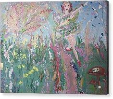 Summer Fairy Acrylic Print by Judith Desrosiers