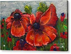 Acrylic Print featuring the pastel Summer Field Of Poppies by Vickie Scarlett-Fisher
