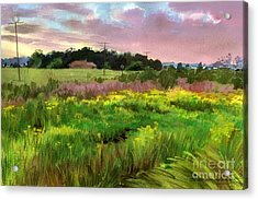 Acrylic Print featuring the painting Summer Field by Sergey Zhiboedov