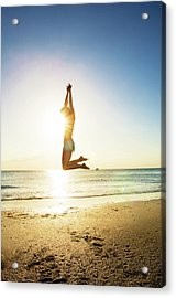 Summer Fitness Girl Acrylic Print