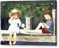 Summer Friends Acrylic Print by Jane Croteau