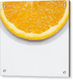 Summer Fruit Orange Slice On Studio Copyspace Acrylic Print