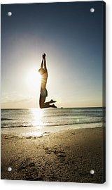Summer Girl Summer Jump  Acrylic Print by Amyn Nasser