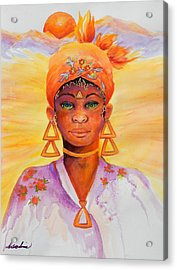 Summer Goddess Acrylic Print