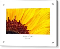 Acrylic Print featuring the digital art Summer Gold by Julian Perry