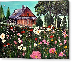 Summer House Acrylic Print by Dia Spriggs