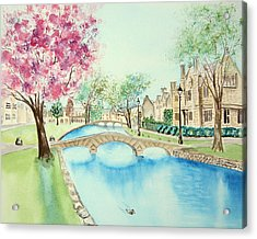 Summer In Bourton Acrylic Print
