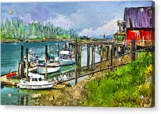 Acrylic Print featuring the digital art Summer In La'conner by Dale Stillman