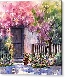 Acrylic Print featuring the painting Summer In Santo Tomas by Ann Peck
