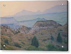 Summer In The Badlands Acrylic Print