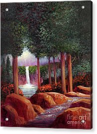 Acrylic Print featuring the painting Summer In The Garden Of Eden by Randol Burns
