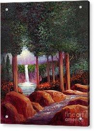 Summer In The Garden Of Eden Acrylic Print by Randy Burns