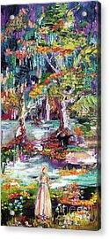 Summer In The Garden Of Good And Evil Savannah Georgia Acrylic Print