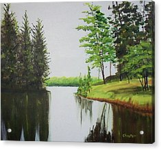 Summer Lake Acrylic Print