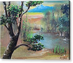 Summer Leaves Acrylic Print by Remegio Onia