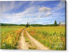 Summer Meadows Acrylic Print by Veikko Suikkanen