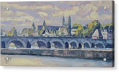 Summer Meuse Bridge, Maastricht Acrylic Print