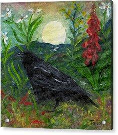 Summer Moon Raven Acrylic Print