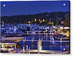 Summer Night - Lake Geneva Wisconsin Acrylic Print by Ben Thompson