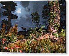 Summer Night Magic Acrylic Print by Mary Almond