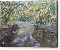 Acrylic Print featuring the painting Summer On The South Tow River by Joel Deutsch