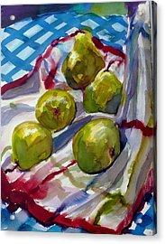 Summer Pears Acrylic Print by Doranne Alden