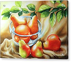 Summer Pears Acrylic Print by Inese Poga