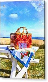 Summer Picnic Acrylic Acrylic Print by Edward Fielding