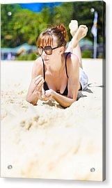 Summer Portrait Of Relaxation Acrylic Print by Jorgo Photography - Wall Art Gallery