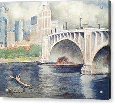 Summer Rain Acrylic Print by Marilyn Jacobson