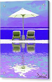 Summer Reflections Acrylic Print by Deborah Rosier