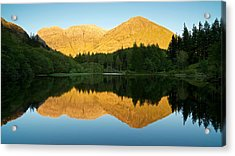 Summer Reflections In Glencoe Acrylic Print by Stephen Taylor