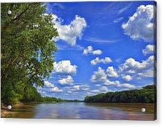 Summer River Glory Acrylic Print