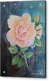 Summer Rose - Painting Acrylic Print by Veronica Rickard