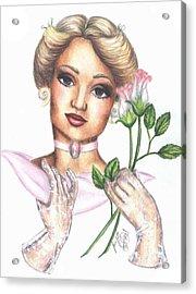 Summer Rose Acrylic Print by Scarlett Royal