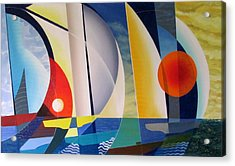 Acrylic Print featuring the painting Summer Sailing by Douglas Pike