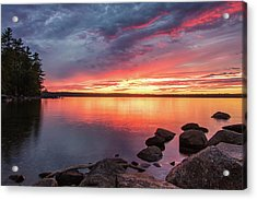 Summer Sets Over Sebago Lake, Maine Acrylic Print
